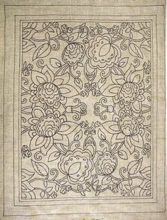 waiting for someone like you to be inspired to create a fabulous heirloom!we do custom designing. Hungarian Embroidery, Crewel Embroidery, Embroidery Patterns, Rug Hooking Designs, Rug Hooking Patterns, Rug Patterns, Cross Stitch Designs, Cross Stitch Patterns, Weaving Loom Diy