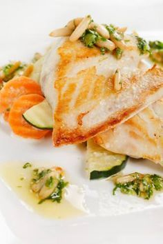 Pangasius with Pine nuts and Pesto