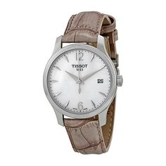 Tissot Tradition Mother of Pear Dial Grey Leather Ladies Watch T0632101711700