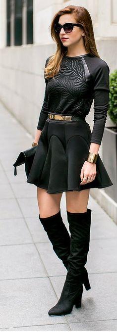 o preto dominando  look perfeito