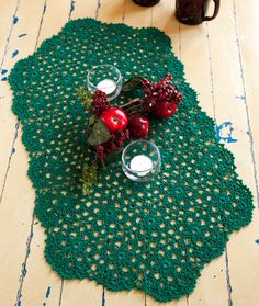 Holiday or Any Day Table Runner Crochet Pattern | Red Heart  Great for our coffee table/blanket chest!