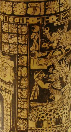Vase of Seven Gods, Ah Maxam (active mid-late 8th century), ceramic and pigment, 750/800 CE, Late Classic Maya; vicinity of Naranjo, Petén r...