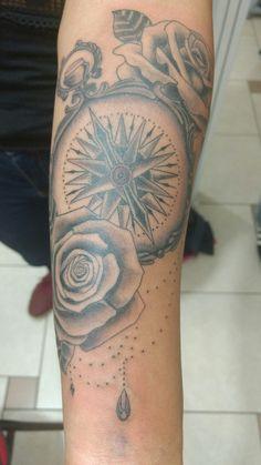 #compass #tattoo #rosa #rosadoaventos #br