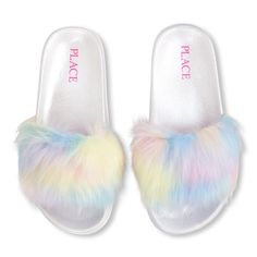 The Children's Place offers a wonderful variety of girls shoes that will fit her style. Shop the PLACE where big fashion meets little prices! Tutus For Girls, Kids Outfits Girls, Girls Shoes, Jordan Shoes For Women, Unicorn Fashion, Faux Fur Slides, Tween Girl Gifts, Baby Doll Accessories, Girls Hand