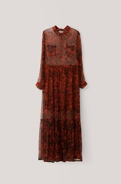 Beaumont Chiffon Maxi Dress, Brandy Brown