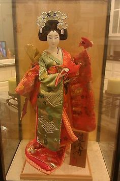 Japanese Vintage Geisha Doll in Glass Case | eBay