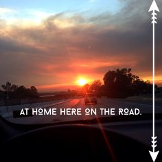 At home here on the road