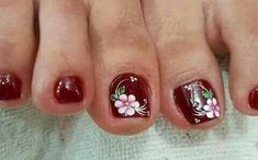 Colorful Nail Designs, Toe Nail Designs, Pedicure Nail Art, Toe Nail Art, Flower Pedicure Designs, Pretty Toe Nails, Magic Nails, Girls Nails, Hot Nails
