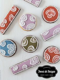 Bolachas Brush Embroidery • Brush Embroidery Cookies for Mother´s Day | Doces do Bosque