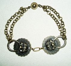 VICTORIAN GARGOYLE Bracelet Door Knocker with Double Chain and Snap Clasp  #kmeartUSA