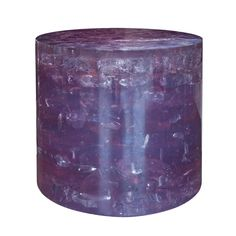 Lavender Acrylic Side Table | From a unique collection of antique and modern end tables at https://www.1stdibs.com/furniture/tables/end-tables/