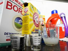 We took 4 detergent recipes from around the web and tested them against a name brand control.