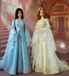 A unique event! The available size - Iplehouse SID or Fairyland FeePle. Elf dress for SD bjd doll, (Iplehouse SID, Fairyland FeePle) Barbie Wedding Dress, Barbie Gowns, Barbie Dress, Barbie Clothes, Wedding Dresses, Beautiful Dolls, Beautiful Dresses, Manequin, Barbie Model