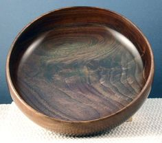 Hand Turned Wooden Bowl  Black Walnut Crotch by MLCWoodworks, $50.00