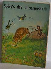 Spiky's day of Surprises John Cotton Litor Sweden hedgehog vintage children's