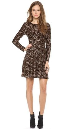 DKNY Leopard Knit Flare Dress. Sold out (was $495 from Shopbop).