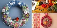 20+ kreatívnych nápadov na nádherné pletené a háčkované vence