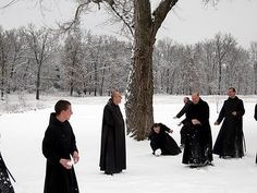 Snowballs at  Benedictine Monastery, Clear Creek,  Oklahoma