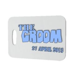£3.95 Personalised The Groom Luggage Tag