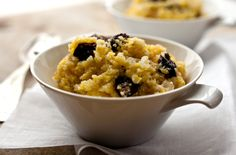 Greek Polenta With Onions and Raisins: View this and hundreds of other vegetarian recipes in the @The New York Times Eat Well Recipe Finder.