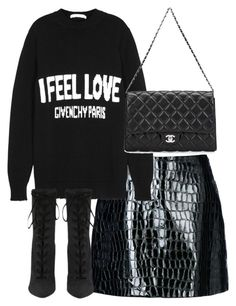 """""""Untitled #4522"""" by theeuropeancloset ❤ liked on Polyvore featuring Jolie By Edward Spiers, Givenchy and Chanel"""