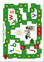 Letterspel Kerst - Spelbord