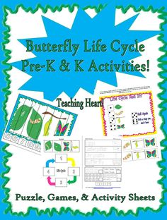 Caterpillar to Butterfly Life Cycle activities for Preschool and Kindergarten!