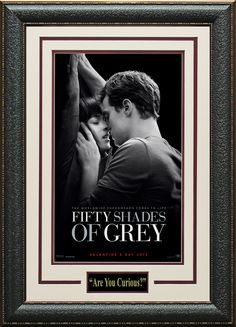 Signature Royale - Fifty Shades Of Grey Mini Movie Poster Framed., $75.00 (http://www.signatureroyale.com/fifty-shades-of-grey-mini-movie-poster-framed/)