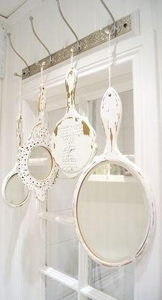 #shabby ##chippy #white #mirrors