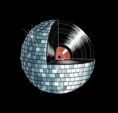 • Vinyl Art • ⋅ Vinyl Mirror Ball ⋅