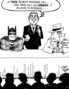 Sunday cartoon - Security Initiatives  May 14, 2006
