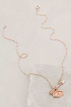 Inscribed Arrow Necklace - anthropologie.com
