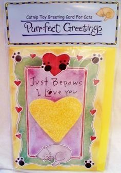 Purrfect #Cat Greetings Just BePaws I Love You by Purrfectly Rebarkable #Pets Purrfect Cat Greetings were created by a veterinarian to provide pet owners the opportunity to present useable greeting cards to cats and kittens. Just BePaws I Love You makes an adorable Valentine's Day card--but, is also purrfect for any day that you need to send a pet a little extra love.