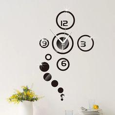 3D DIY Moment Quartz Needle Clock Watch Wall - Nordic Garner #homedecor #interiordesign #nordicinterior #wallstickers #wallpapers #diyhomedecor