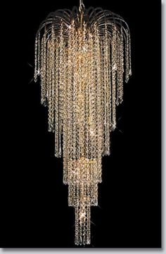 Falls Collection Extra-Large Crystal Chandelier – Crystal Chandeliers - Chandeliers