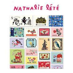 Stamp Sticker Set V.4 - Nathalie Lété - B Type 02 - NL4474 – OBNI World