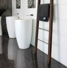 Hardwood Custom Towel Ladder by DC Short - Just Bathroomware