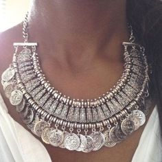 Silver Boho Coin Statement Necklace NWOT silver colored (not made of real silver) statement necklace with adjustable lobster clasp. Perfect for summer and festivals! Jewelry Necklaces