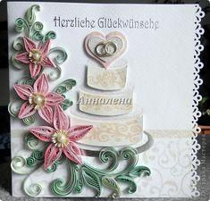 Открытка Свадьба Квиллинг Свадебные Бумага Бумажные полосы фото 1
