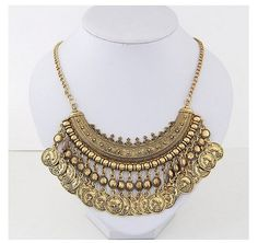 Bohemian Statement Coin Necklace