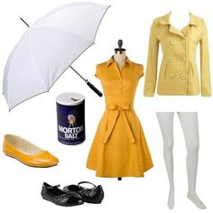 Morton Salt Girl - what a fun idea for a costume party...themed as famous mascots of advertising?