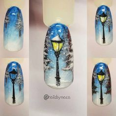 Christmas Nail Designs - My Cool Nail Designs Nail Art Noel, Xmas Nail Art, Xmas Nails, Winter Nail Art, Holiday Nails, Winter Nails, Christmas Nails, Christmas Nail Art Designs, Winter Nail Designs