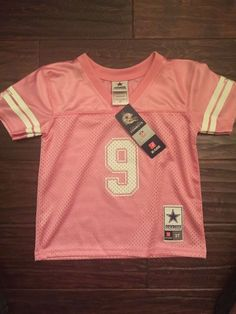 Little Girls Dallas Cowboys SS Mesh Jersey Romo 9 Pink Sparkle Glitter 3T | eBay