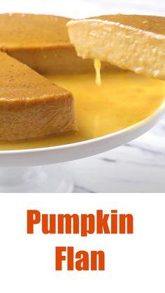 Pumpkin Flan, Pumpkin Spice Muffins, Pumpkin Dessert, Holiday Desserts, Easy Desserts, Holiday Recipes, Dessert Recipes, Cheesecake Recipes, Cooking Pumpkin