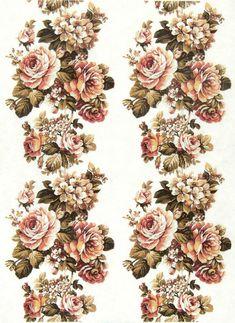 Ricepaper/Decoupage paper, Scrapbooking Sheets Vintage Antique Bouquet Midle | eBay