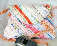 Small Shoulder Bag Selvages Kate Spain Selvages by bungalowquilts, $25.00