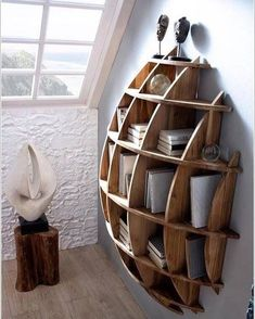 Want a bookshelf, but don't have a lot of wall space? This adorable accent bookcase is a perfect idea!
