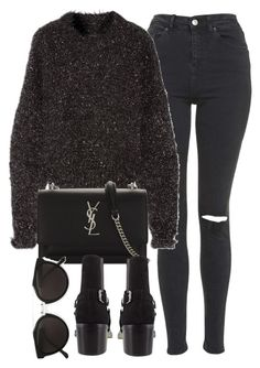 """""""Untitled #7117"""" by laurenmboot ❤ liked on Polyvore featuring Topshop, Isabel Marant, Yves Saint Laurent and RetroSuperFuture"""