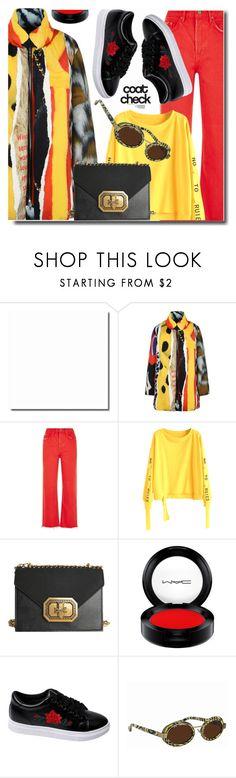 """Statement Coats"" by soks ❤ liked on Polyvore featuring Moschino, GRLFRND, MAC Cosmetics, Linda Farrow and statementcoats"