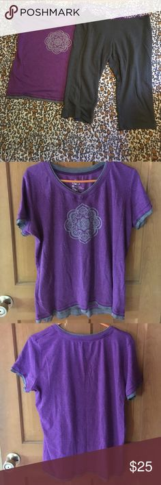 Selling this Yoga outfit - top with om symbol and capris on Poshmark! My username is: annearki. #shopmycloset #poshmark #fashion #shopping #style #forsale #made for life #Other